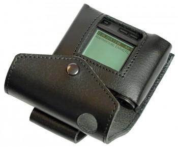 Ledertasche für Swissphone s.QUAD schwarz - mit Displayausschnitt