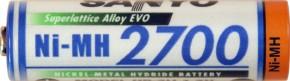 Standard Akku 1,2 V / 2700 mAh NiMH Panasonic/Sanyo