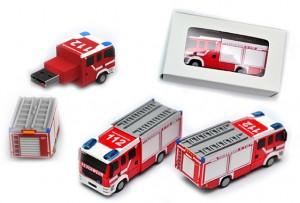 USB-Stick in Form eines Feuerwehrautos