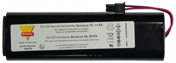 Akku für Handlampe / Knickkopfleuchte AccuLux HL25 Ex