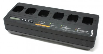 6-fach Tischladegerät für Motorola TPG2200 mit Displayanzeige