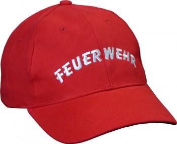"""Hochwertige Schirmmütze """"Feuerwehr"""" rot"""