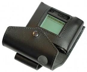 Ledertasche für Swissphone s.QUAD schwarz - mit TENAX-Verschluss